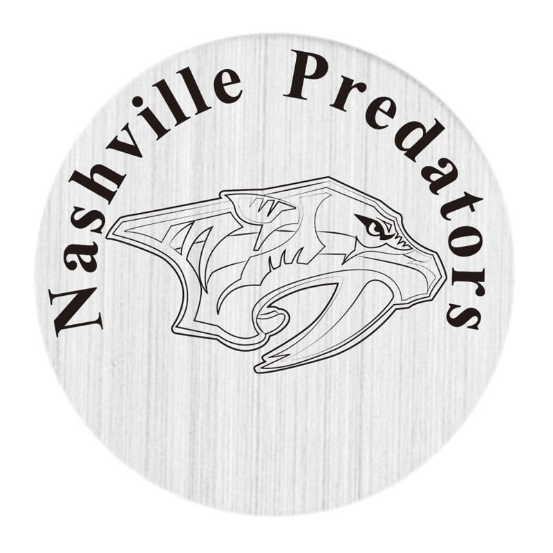 Nashville Predators 22mm Stainless Steel Floating Locket Plate NHL Floating Charms Fit 30mm Living Glass Lockets 20pcs/lot