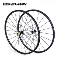 ORGE China Best Cycling Bicycle Carbon Fiber Wheels Set 700C 24MM Clincher Black 20 24H R36