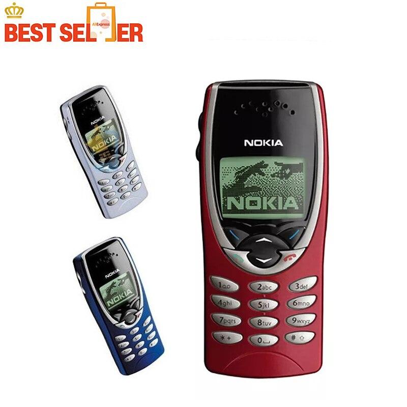 Цена за Разблокирована оригинальный nokia 8210 дешевые мобильные телефоны gsm хорошее качество бесплатная доставка
