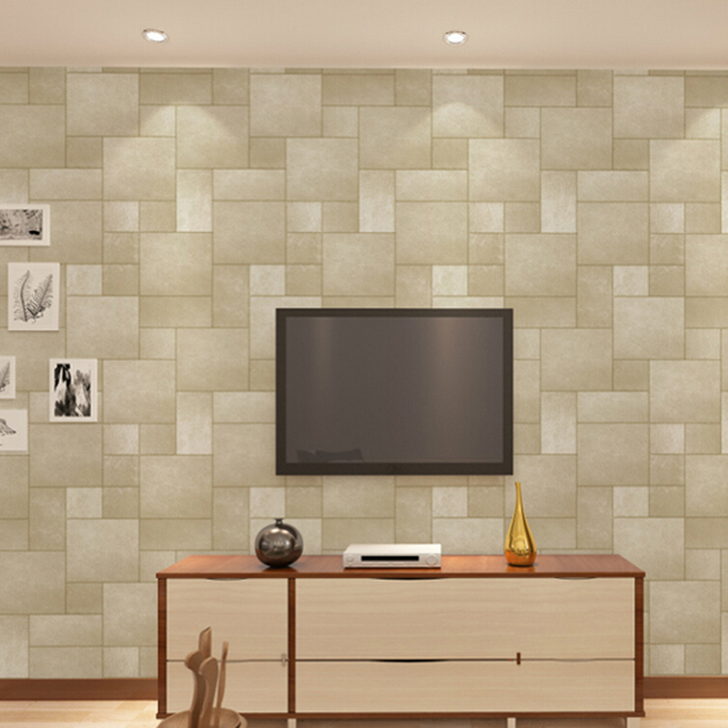 Square Lattice Vinyl Wall Papers Home Decor 3D Fax Fur Texture PVC Wallpaper Roll For Living Room Bedroom Background Wall Mural 3d stereoscopic wall wallpaper for walls 3 d living room tv background vinyl wallpaper roll mural 3d home decor pvc marble top