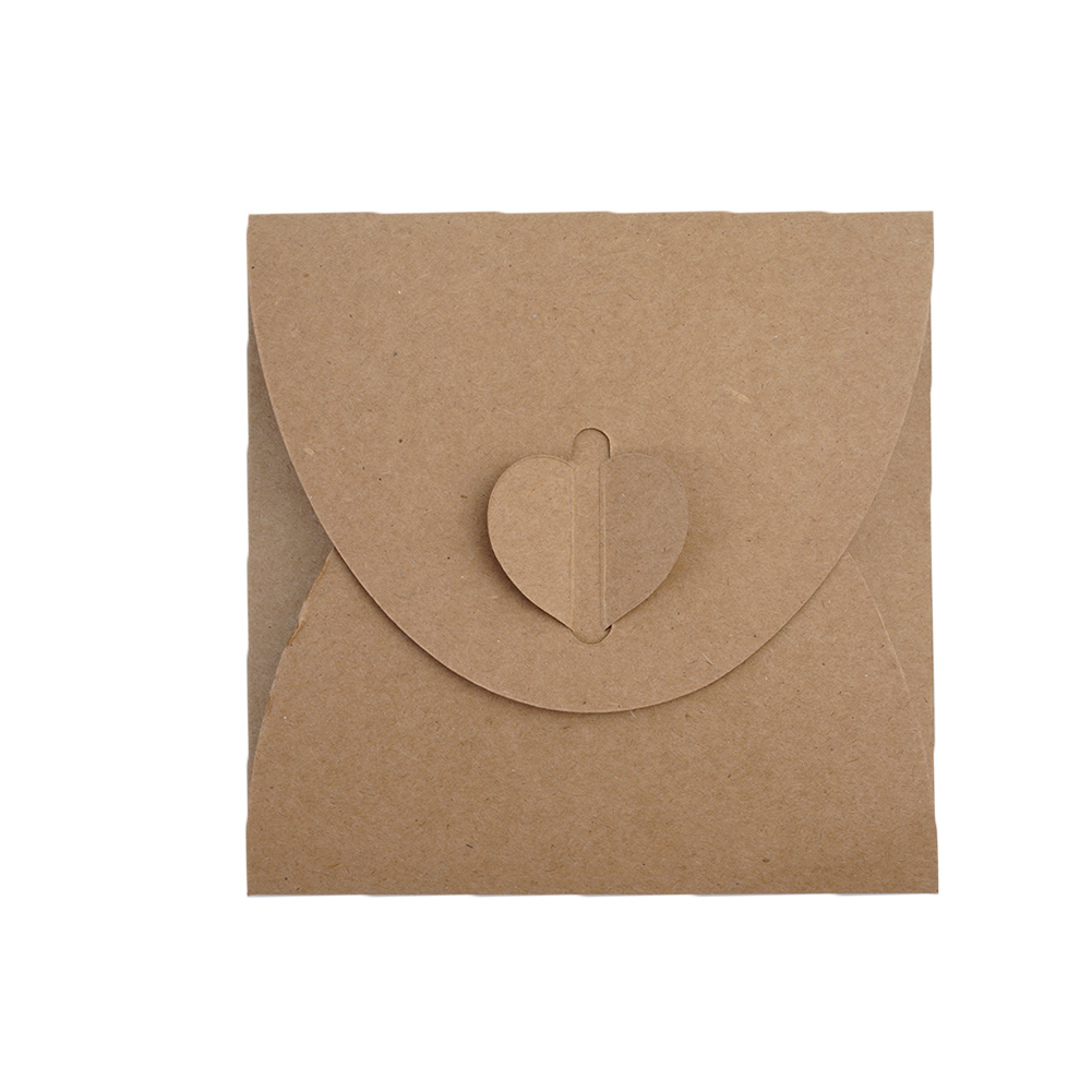 20 x Kraft Paper CD Sleeves Discs DVD Packaging Bag Box CD Case Cover Envelope For Wedding Event Party CDB8511