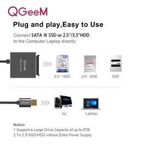 Image 5 - QGeeM adaptateur SATA vers USB 3.0 vers USB 2.0 câble, adaptateur Sata pour disque dur et SSD Samsung Seagate WD 2.5 et 3.5