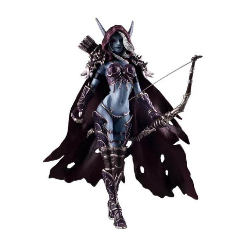New 14CM Sylvanas Windrunner Archery queen nendoroid PVC Action Figure Model With Base Collection figma anime figure sylvanas windrunner classic toys for boys model figure without retail box