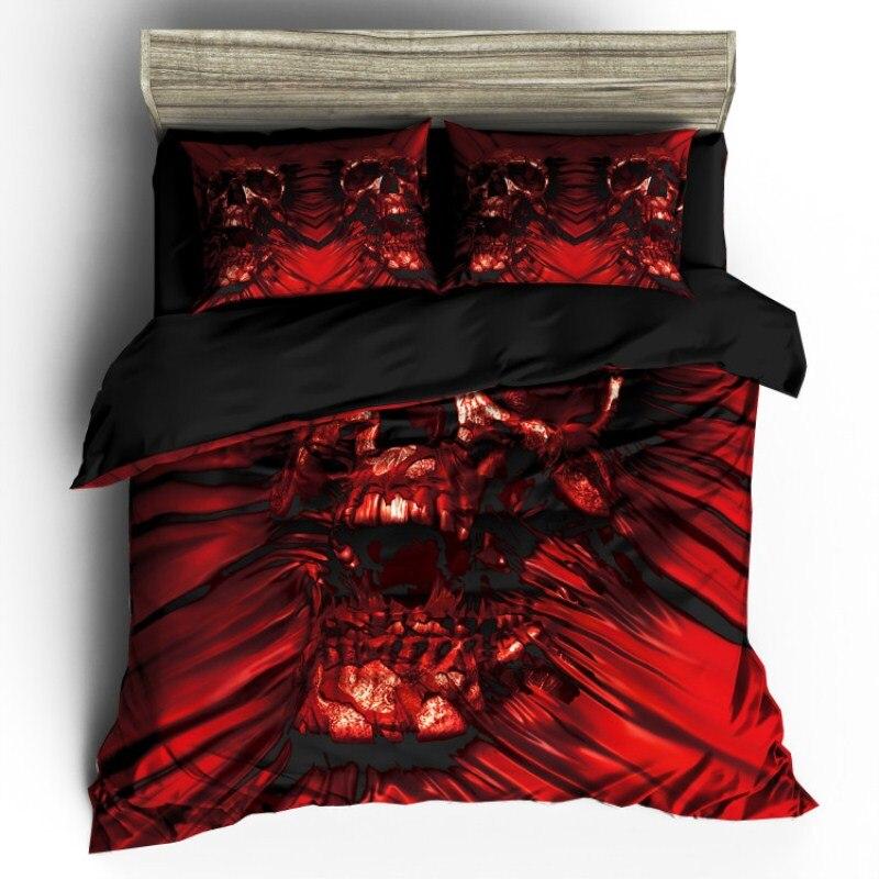 Fanaijia 3 unids cráneo Ropa de cama conjunto rey tamaño bohemio ...