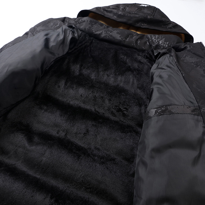 Fashion Business gentleman new winter camouflage printed cotton coat lamb hair thickening plus velvet warm cotton jacket in Parkas from Men 39 s Clothing