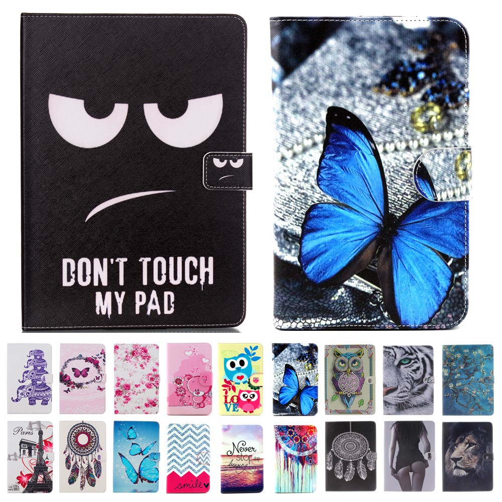 For Mini iPad Mini 4 Cover Case giraffe Tiger Smart Wallet Stand Case Girl Kids Gift Protect Cover For iPad Mini4 tablet #K