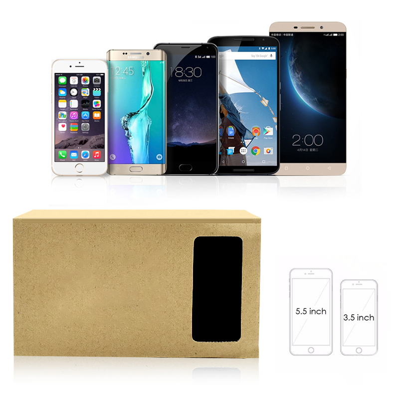 7 iPhone for SmartPhones Box Xiaomi Reality VR 5 FROG Glasses Movies 3D DATA Headset 6 Cardboard Google Virtual 3