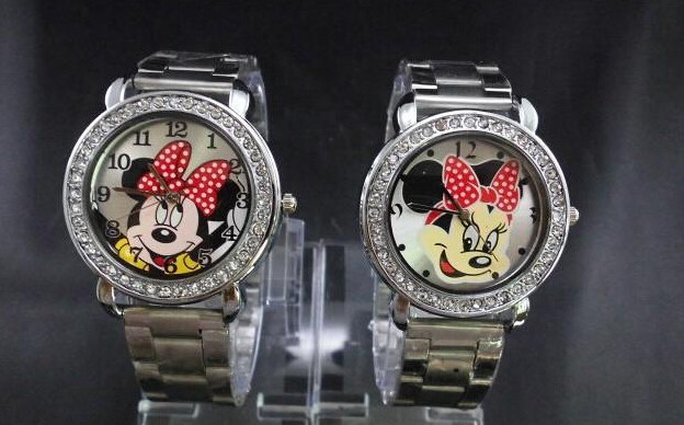 The lovely mickey watches, multicolor optional, men and women, old and young gen