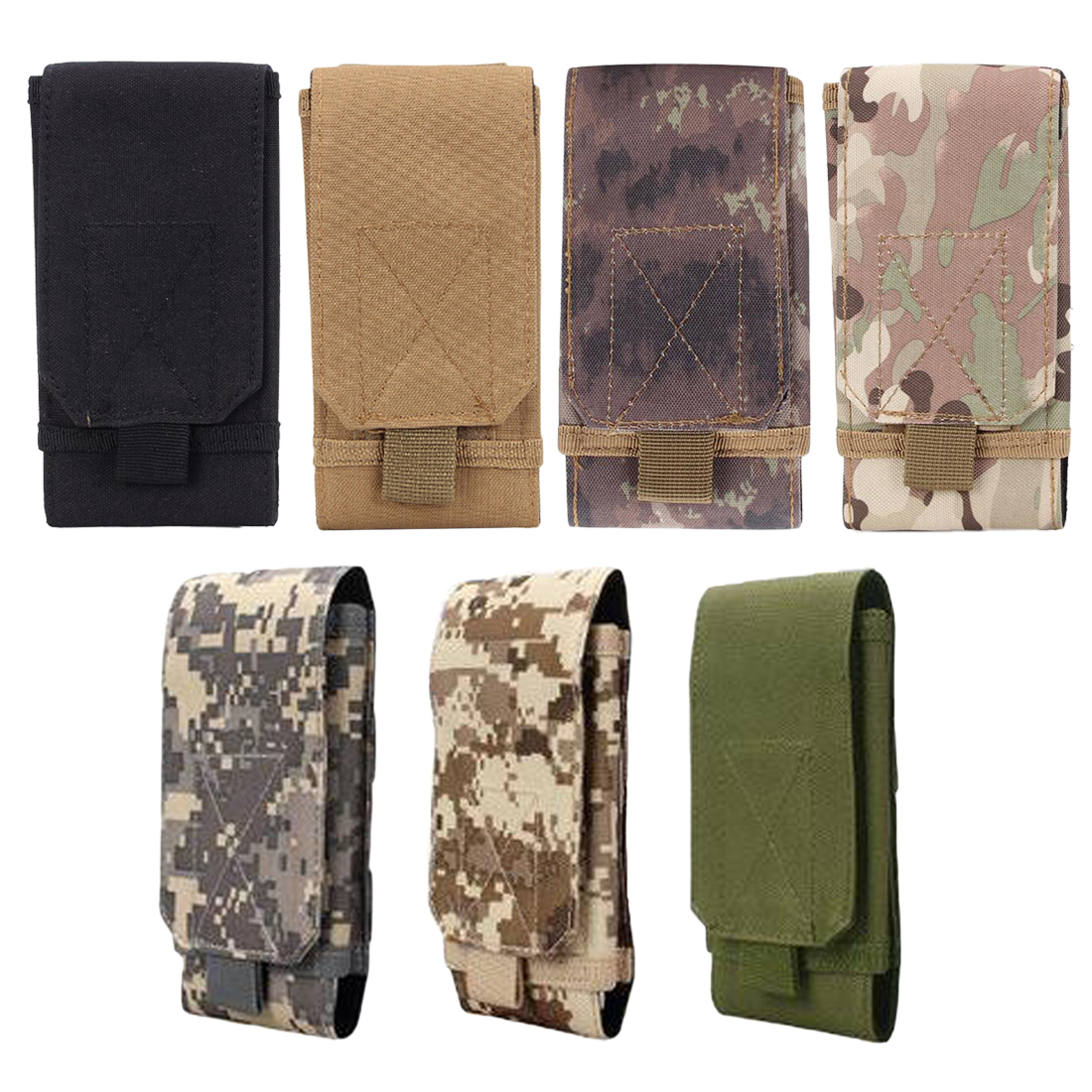 New 6 Inches Tactical Holster MOLLE Army Camo Camouflage Bag Hook Loop Belt Pouch Holster Cover Case For The Mobile Phone Case