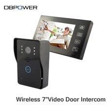 """Videoportero 7 """"Monitor de Interfono Video Portero Timbre Inalámbrico con IR de Cámaras de Seguridad con Visión Nocturna Videoportero"""