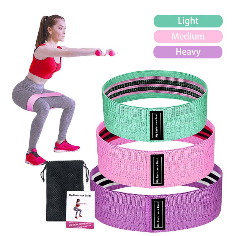 Circle Hip Resistance Bands Yoga Anti-slip Gym Fitness Rubber Band Leg Workout Exercises Braided Elastic Band Fitness Equipment
