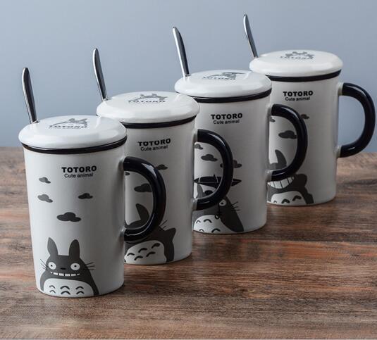 Kawaii Cartoon Novelty Totoro porcelain Cool Summer Business Gift Mug kids Milk Coffe Lemon Juice water Cup