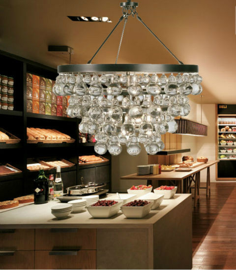 Modern gourd crystal chandelier lights lamps for dining kitchen 001 aloadofball Image collections