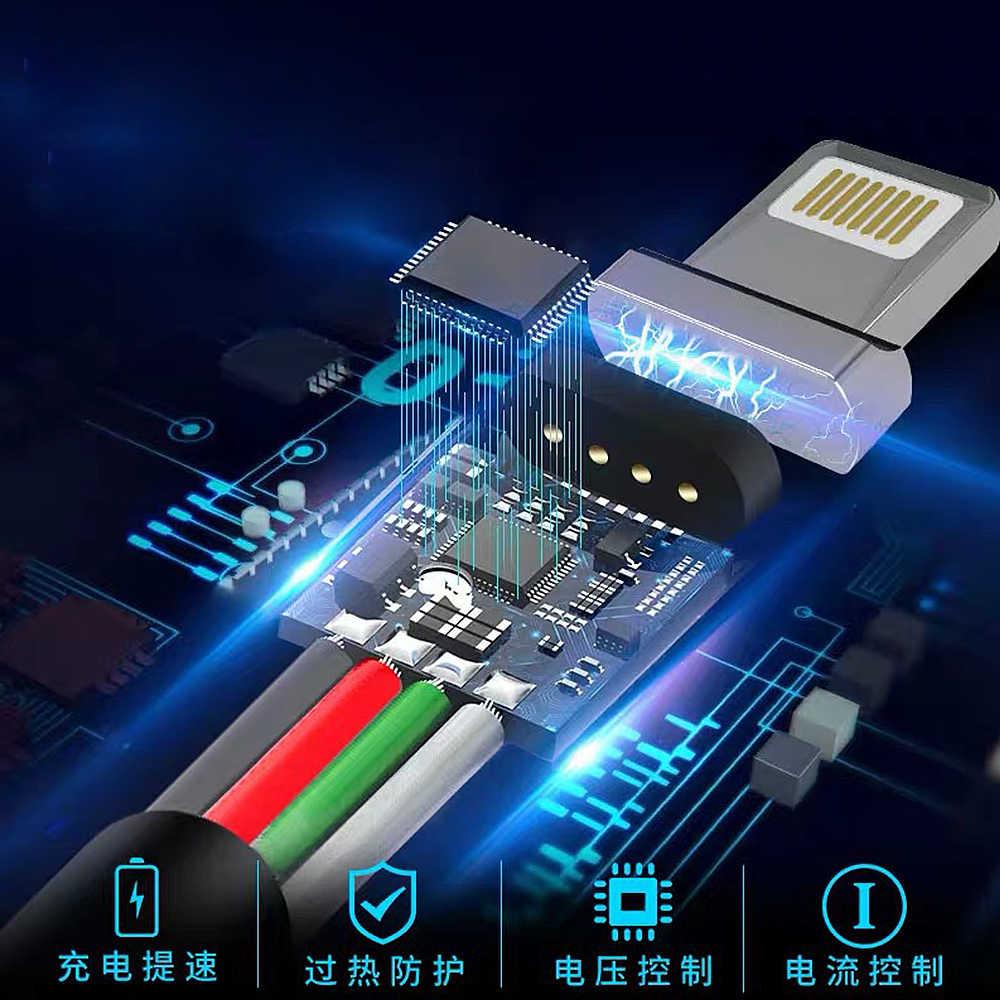 Cavo Usb Tipo C Cavo Magnetico & Micro Usb Del Cavo di Nylon Intrecciato Indicatore Led di Sincronizzazione di Dati Del Caricatore Magnete Cavo