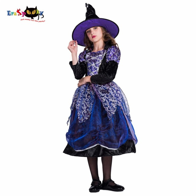 2017 New Arrival Fancy Star Witch Halloween Costumes For Kids Purple Long Sleeve Dress And Hat  sc 1 st  AliExpress.com & 2017 New Arrival Fancy Star Witch Halloween Costumes For Kids Purple ...