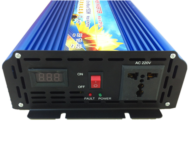 Single Phase Off Grid 1500W pure sine wave inverter 12V 24V DC input to 110V 120V 220V 230V 240V AC output 50Hz 60Hz micro inverter on grid tie for 600w windmill turbine 3 phase ac input 10 8 30v to ac output pure sine wave