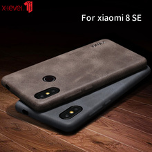 PU Leather Case For Xiaomi Mi 8 Mi8 X-Level Original Soft Touch Case Ultra Slim Thin Business Back Cover Case For Xiaomi Mi 8 SE