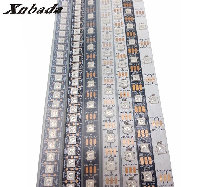 1m/4m/5m WS2812B WS2812 Led Strip,30/60/74/96/144Pixels/Leds/m Individually Addressable Smart ws2812 IC RGB Led Strip DC5V