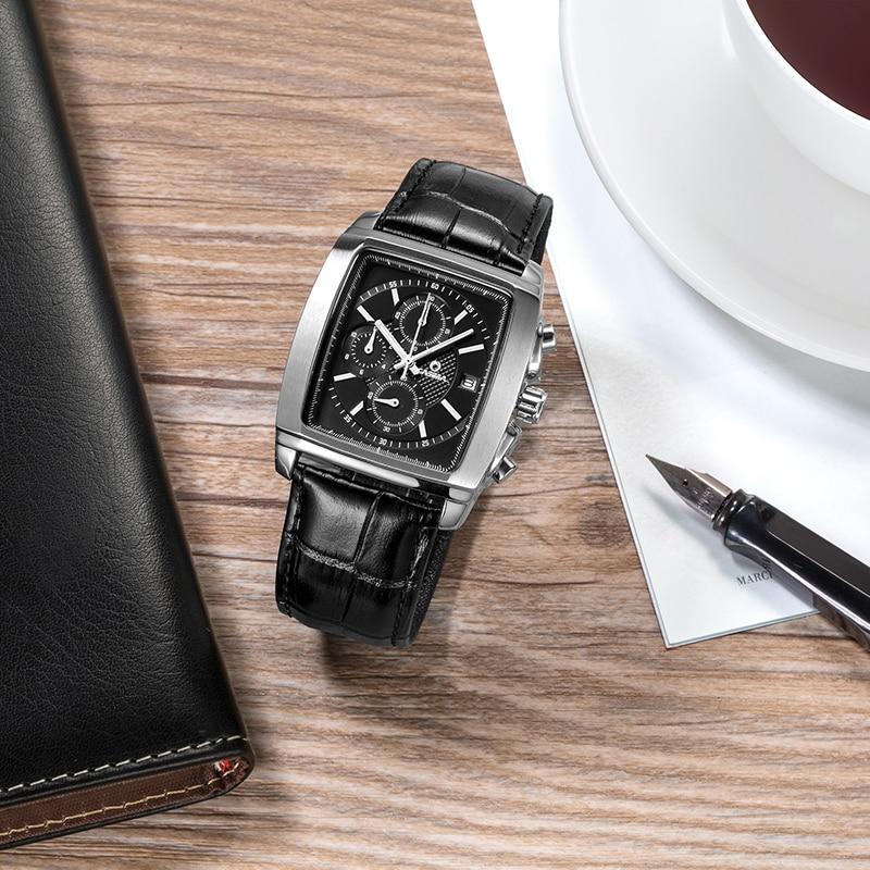 Lüks marka saatlar kişilərin moda biznes geyimləri klassik mens - Kişi saatları - Fotoqrafiya 5