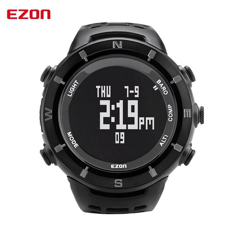 EZON Brand Mens Outdoor font b Sport b font Watch Men LCD Digital Quartz Watches Alarm