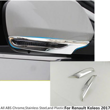 Hot sale Car ABS chrome rear view Rearview Side Mirror Cover stick trim frame lamp 2pcs