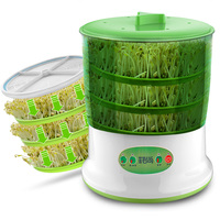 Automatic Bean Sprout Machine 2 3 Layers With Pressure Plate Large Capacity Thermostat Green Plant Seeds