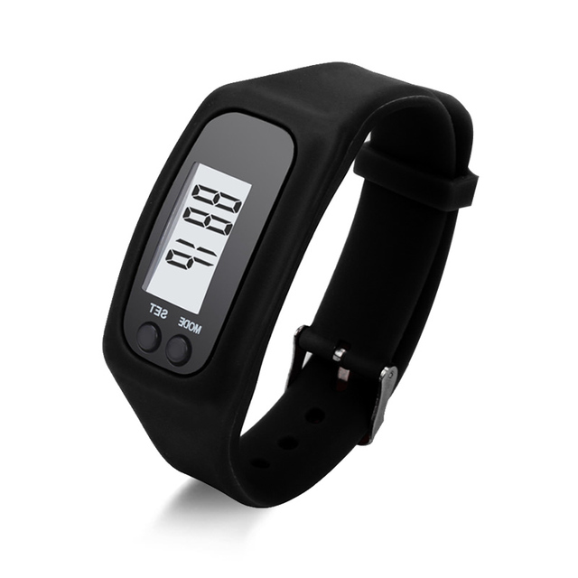 Casual Digital LCD Pedometer run step walking distance calorie counter watch bracelet fashion men women sports Led watches