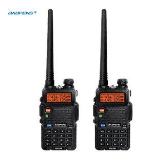 2pcs UV5R VOX 10 Km Walkie Talkie pair Two Way Radio Station Car CB Ham Radio For Bao Feng Police Equipment uv 5r Baofeng uv-5r