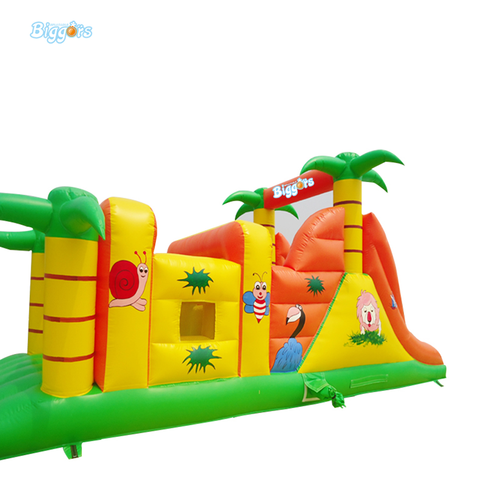 FREE SHIPPING BY SEA 0.55mm PVC Tarpaulin Inflatable Jumper Slide Inflatable Obstacle Course Jungle For Children free sea shipping commercial obstacle course run races inflatables with air blowers for sale