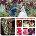 1 pcs Rosa Artificial Guirlanda de Flores Da Planta de Aranha Art Vinha Pendurado Decoração De Casamento Flor de Seda Home Decor 6 Cores