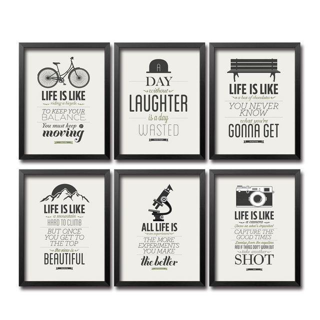 Modern Inspiring Life Quote Art Painting Posters And Prints Wall Pictures  For Company Home Decor Modular