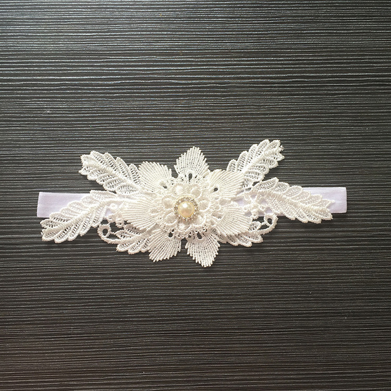 Fashion Wedding Garter Lace Flower Pearl Bridal Garters