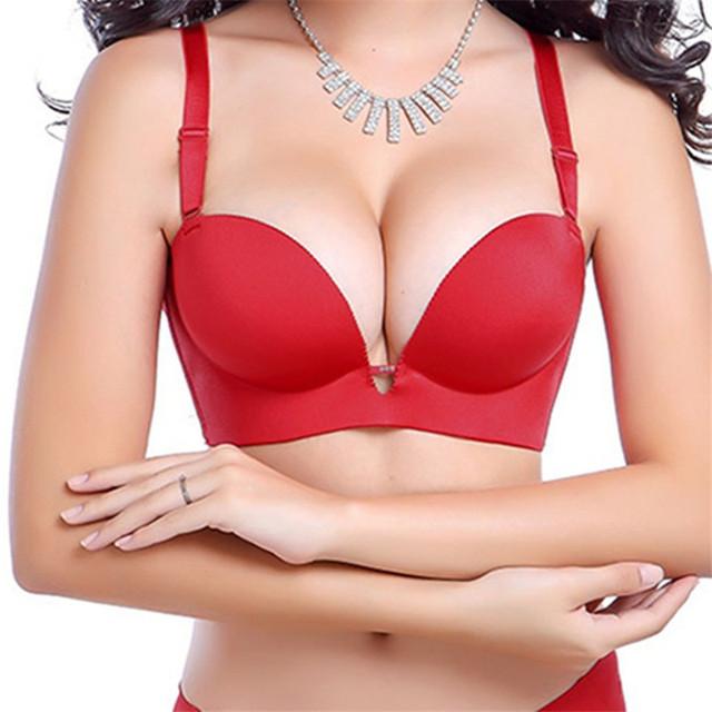 Bra 2016 Estilo Verão Sexy Moda Sutiã Sem Costura Empurrar Para Cima de Tiras Ajustado-straps Bra Para As Mulheres 4323-1 #