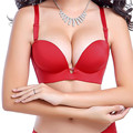 Bra 2016 Summer Style Sexy Fashion Strappy Bra Seamless Push Up Adjusted-straps Bra For Women 4323-1#
