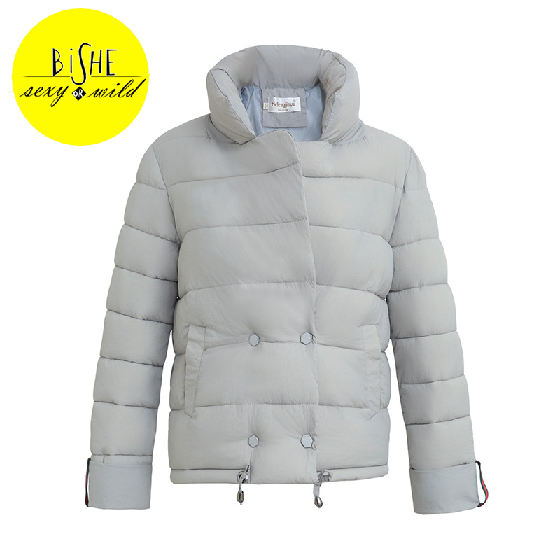 BISHE Winter Women Jacket Coat Womens Down Jackets Short Cotton Padded Causual Warm Parka Women Down Jacket Female Winter Parka new cotton padded winter jackets women fashion short down parka light women s winter jacket coat short female water proof jacket