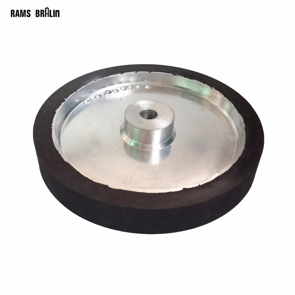 350*50*25mm Belt Sander Rubber Wheel Flat Surface Belt Grinder Contact Wheel Dynamically Balanced 300 50mm flat belt grinder contact wheel dynamically balanced rubber polishing wheel abrasive sanding belt set