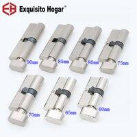Door Hardware Security Cylinder Interior Room Door Glass Clamp Lock Handle Customized Partial Brass Key Copper