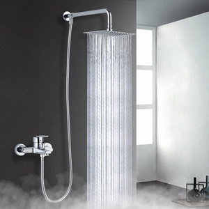 6'' 8''Inch Round Square Ultra Slim Large Rainfall Shower Head Stainless Steel Panel Big Water Current Bathroom Top Spray Shower(China)