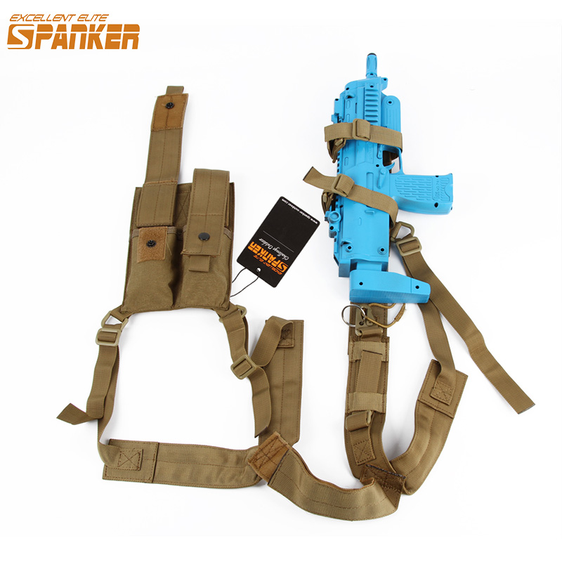 EXCELLENT ELITE SPANKER Kriss Hanging bag Shoulder Holster Armpit Rig with Pistol&Magazine Pouch Tactical Hunting Underarm bag tactical army force leather shoulder pistol holster for 654k with magazine pouch
