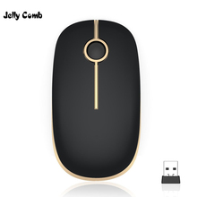 Желейная расческа 2,4 г беспроводная usb-мышь для ноутбука ультра тонкая Бесшумная Mause для компьютера ПК ноутбук Офис школа оптическая Бесшумная мышь