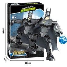 Super Hero Spiderman Batman Building Blocks Compatible Sermoido Educational Toy Boy Birthday Gift Brinquedo