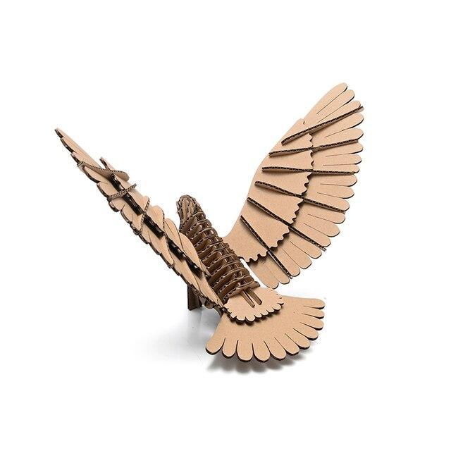 3d Puzzle Bird Model Paper Craft Kids Diy Cardboard Animal