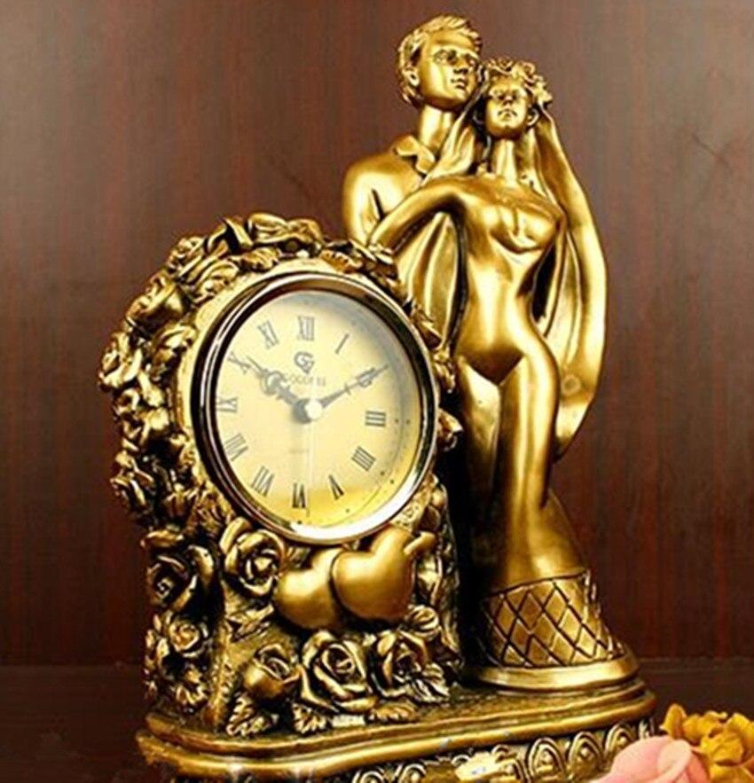Europäische Antike Uhr Hochzeitsgeschenk Harz Handwerk