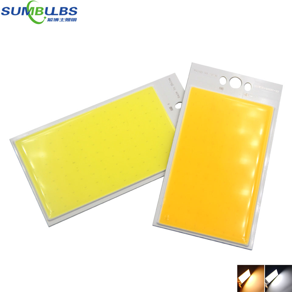 Sumbulbs 120x65MM Rectangle Flip Chips COB Board LED Light Source 30W 12V DC Bulb for Outdoor Lighting House Lamps Car Bulbs DIY sumbulbs led integrated chip 2820 cob light source for led lamps bulbs 20mm lighting diameter warm nature cool white 20pcs