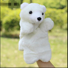 1PIECE Children s plush animal gloves hand large baby to appease finger toys