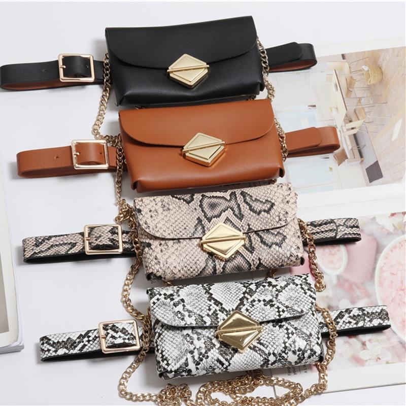 Fashion Women Waist Bag Fanny Pack Solid Waist Packs Hasp Female Pu Leather Messenger Bag Ladies' Chest Bags Bolosa