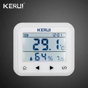 Image 2 - Kerui 433mhz atualizado sem fio display led de temperatura ajustável alarme detector sensor proteção para casa sistema alarme
