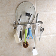 2015 kitchen knife double pot shelf cooking slice Hanger with Hooks Kitchen knife Shelves Stainless Steel 304 Storage