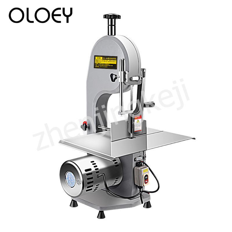 Desktop Electric Slicer Saw Bone Machine Meat Slicer Stainless Steel Tick Mark Aluminum Alloy Body High Power Preservative