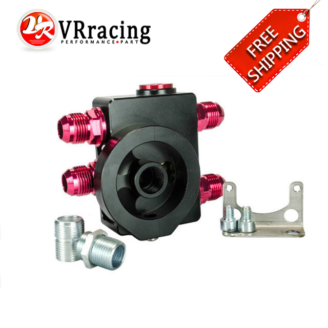 VR RACING FREE SHIPPING Oil Filter Sandwich With Oil filter remote block with thermostat 1xAN8 4xAN10
